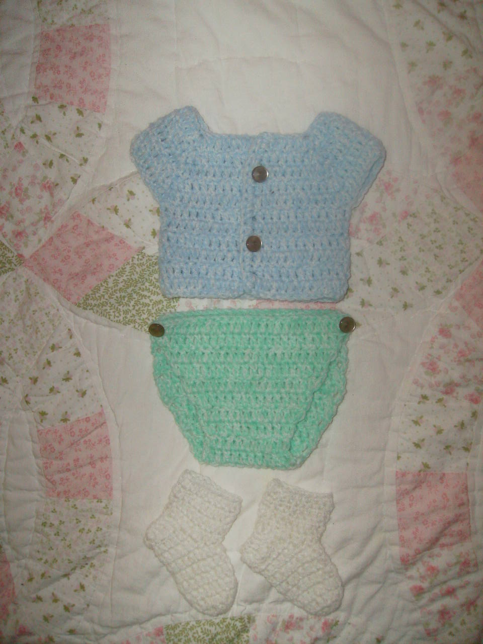 Newborn Shirt & diaper cover