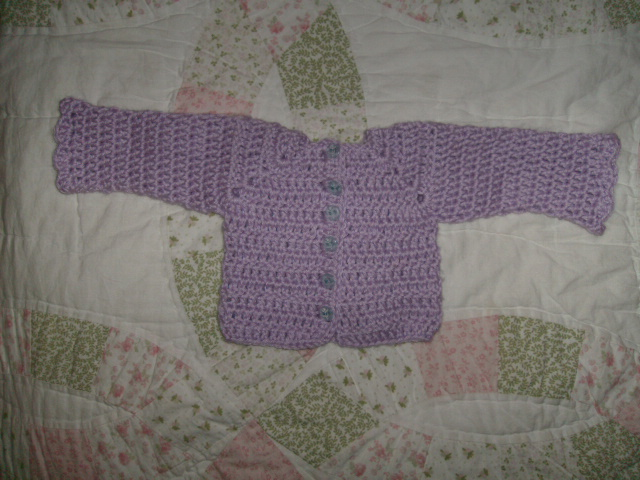 sweater with shell edge