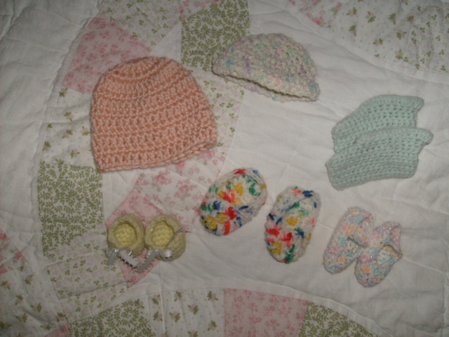 Tiny hats & booties