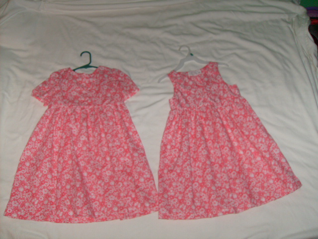 Two girls size 5 dresses I sewed